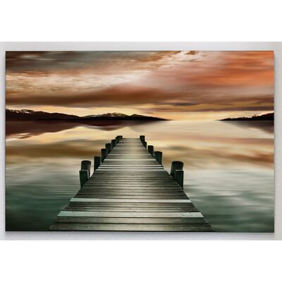 'Sunset Jetty' Photographic Print on Wrapped Canvas Size: 18