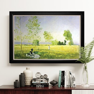 'Summer' Framed Oil Painting Print on Wrapped Canvas