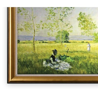 'Summer' Wood Framed Oil Painting Print on Wrapped Canvas