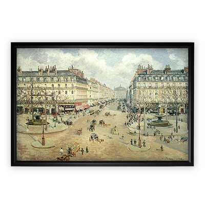 'Avenue De L'Opera' Framed Oil Painting Print on Wrapped Canvas