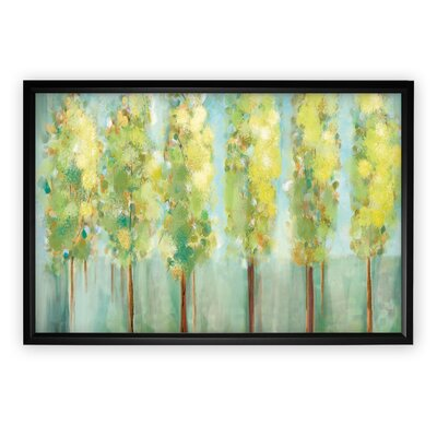 'Turnwood' Rectangle Framed Oil Painting Print on Wrapped Canvas