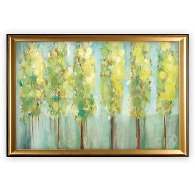'Turnwood' Wood Framed Oil Painting Print on Wrapped Canvas