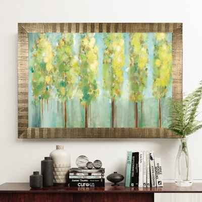 'Turnwood' Rectangle Wood Framed Oil Painting Print on Wrapped Canvas
