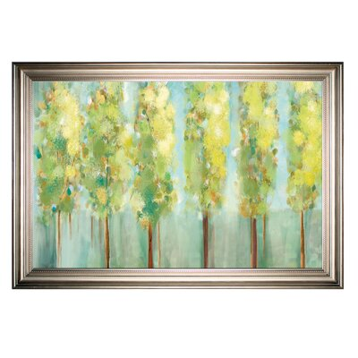 'Turnwood' Framed Oil Painting Print on Wrapped Canvas