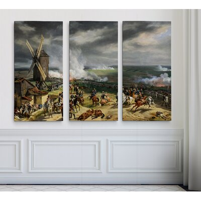 'Battle of Valmy' Acrylic Painting Print Multi-Piece Image on Gallery Wrapped Canvas Size: 24