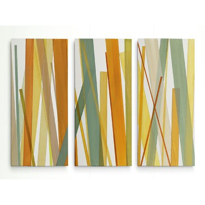 'Summer Hayfield' Graphic Art Print Multi-Piece Image on Wrapped Canvas Size: 24