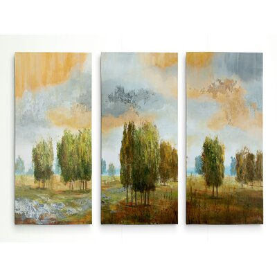 'Meadow Vista II' Acrylic Painting Print Multi-Piece Image on Gallery Wrapped Canvas Size: 24