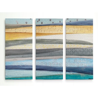 'Layers of the Earth' Acrylic Painting Print Multi-Piece Image on Gallery Wrapped Canvas Size: 24