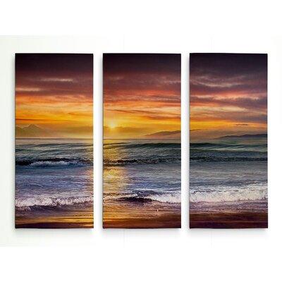 'Sundown Descanso Beach' Graphic Art Print Multi-Piece Image on Wrapped Canvas Size: 24