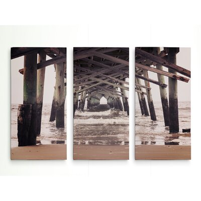 'Under the Boardwalk' Photographic Print Multi-Piece Image on Wrapped Canvas Size: 24