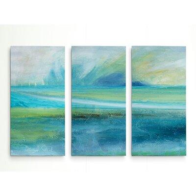 'Sunrise Splash' Acrylic Painting Print Multi-Piece Image on Wrapped Canvas Size: 24