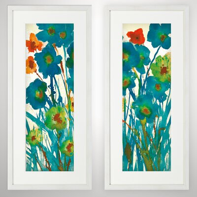 'By the Bridge' 2 Piece Framed Acrylic Painting Print Set