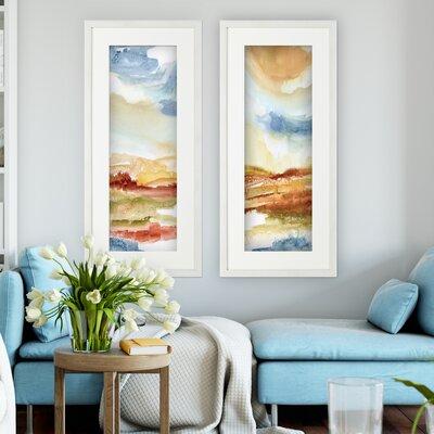 'Puesta de Sol' 2 Piece Framed Acrylic Painting Print Set
