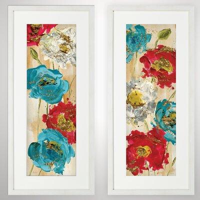 'Poppy Spirit?' 2 Piece Framed Acrylic Painting Print Set