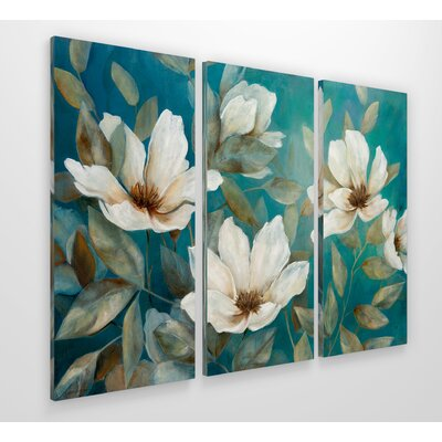 'Shade of Blue' Acrylic Painting Print Multi-Piece Image on Gallery Wrapped Canvas Size: 24