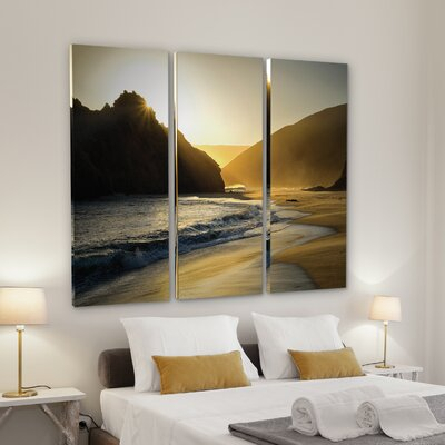 'Sunset at Big Sur' Photographic Print Multi-Piece Image on Wrapped Canvas Size: 24