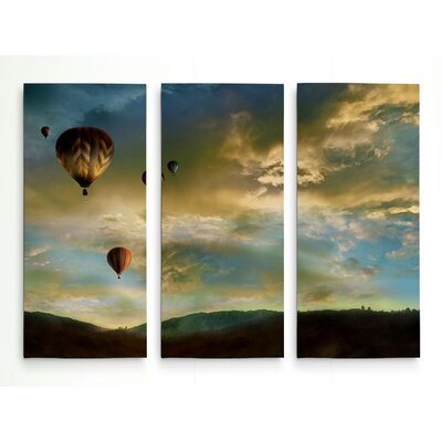 'Sunset Rendezvous' Photographic Print Multi-Piece Image on Wrapped Canvas Size: 24