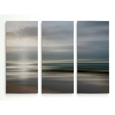 'Setting Sun' Photographic Print Multi-Piece Image on Wrapped Canvas Size: 24