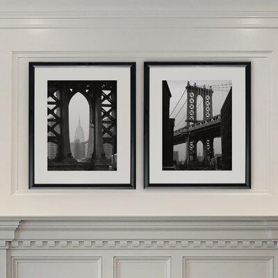 'New York Crossing' 2 Piece Framed Photographic Print Set WLFR4920 43370519