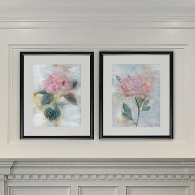 'Stained Glass Hyrandgea' 2 Piece Framed Print Set OPCO5190 43370644