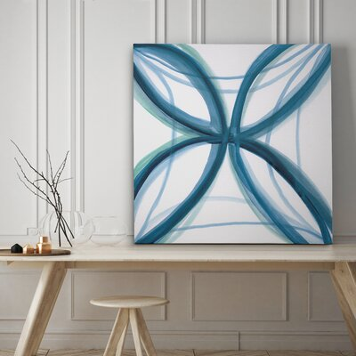'Bold Blue I' Graphic Art Print on Canvas Size: 16