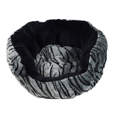 Leopard Fluffy Fleece Cuddler Dog Bed