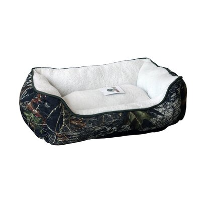 Mossy Oak Rectangle Cuddler Dog Bed