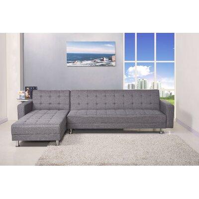 Sleeper Sectional Upholstery: Dark Gray