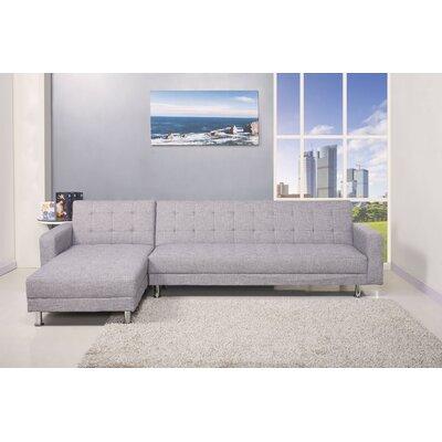 Sleeper Sectional Upholstery: Light Gray