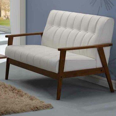 Aarhus Loveseat Upholstery: White