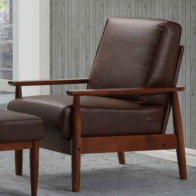 Bergen Arm Chair Upholstery: Dark Brown