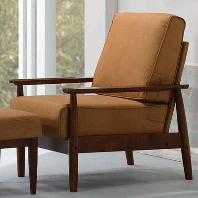 Bergen Arm Chair Upholstery: Bombay Brown