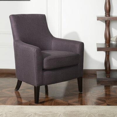 Clara Fabric Armchair Upholstery: Eggplant