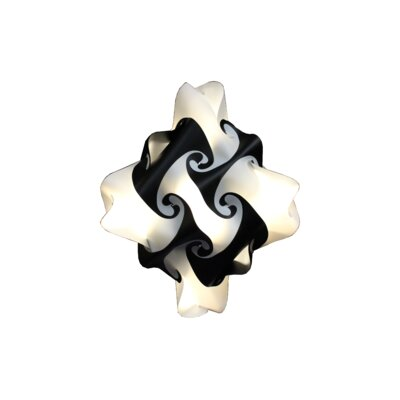 27 Element Pendant Size: Medium, Shade Color: Orange