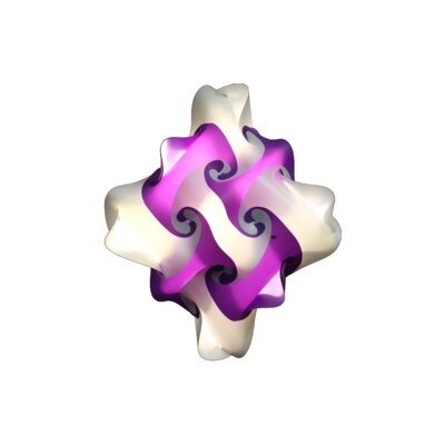 27 Element Pendant Size: Large, Shade Color: Purple