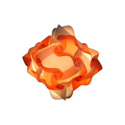 32 Element Pendant Shade Color: Orange, Size: Medium
