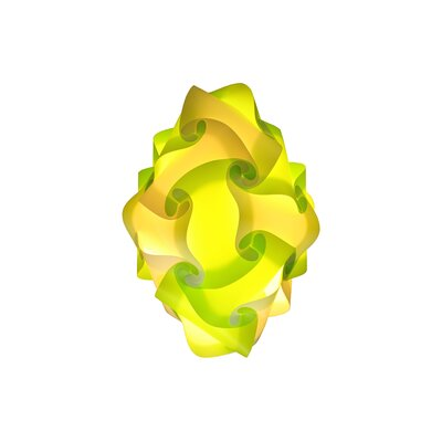 24 Element Pendant Size: Small, Shade Color: Light Green