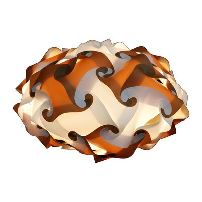 60 Element Pendant Shade Color: Brown, Size: Medium