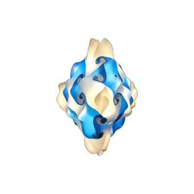 27 Element Pendant Size: Medium, Shade Color: Blue