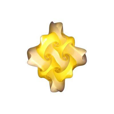27 Element Pendant Shade Color: Yellow, Size: Medium