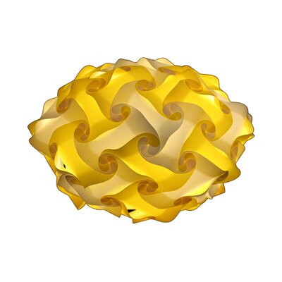 80 Element Globe Pendant Shade Color: Yellow, Size: Medium