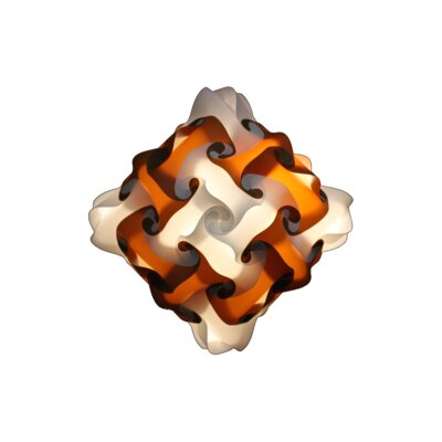 48 Element Pendant Size: Small, Shade Color: Brown