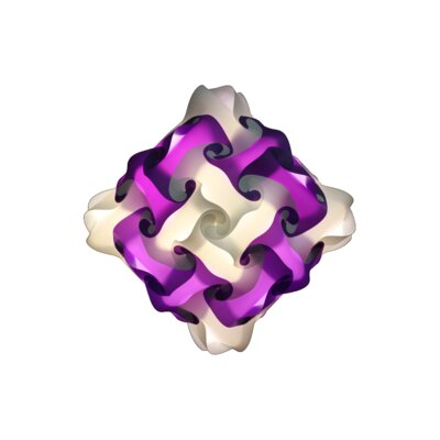 48 Element Pendant Size: Small, Shade Color: Purple
