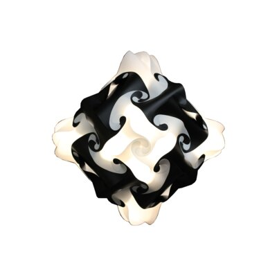 48 Element Pendant Shade Color: Black, Size: Medium