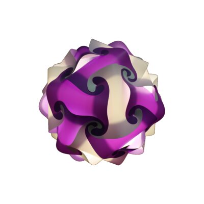 30 Element Globe Pendant Size: Medium, Shade Color: Purple