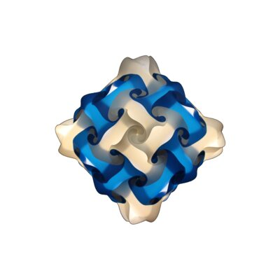 48 Element Pendant Size: Small, Shade Color: Blue