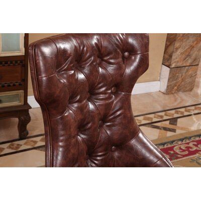 Traditional Side Chair Upholstery: Brown
