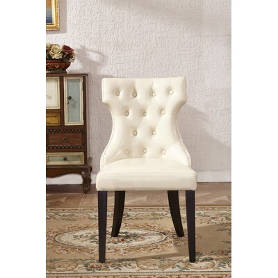 Traditional Parsons Chair Upholstery: White