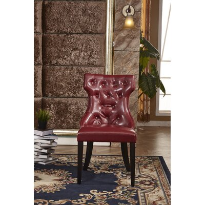 Traditional Side Chair Upholstery: Red