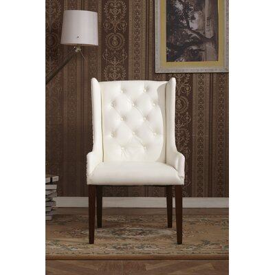 Classic Arm Chair Upholstery: White